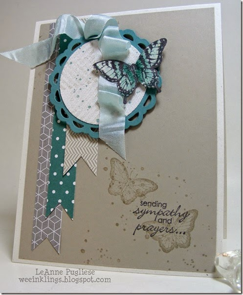 LeAnne Pugliese WeeInklings Papillon Potpourri Sympathy Stampin Up