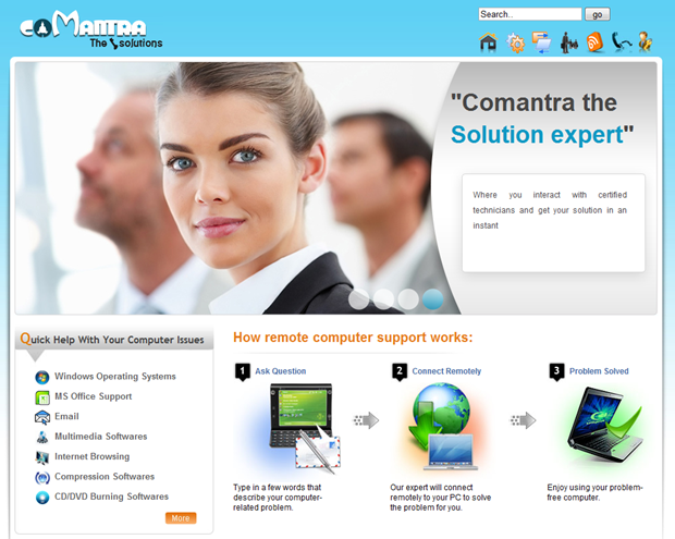 The Comantra website