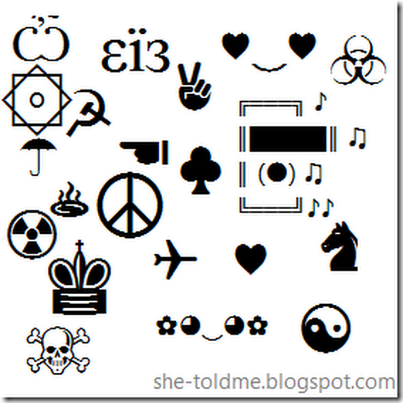 Facebook Symbols Collection | Just Copy And Paste To Use - She Told Me
