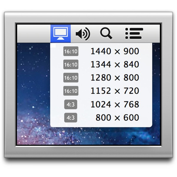 2mac app utilities displaymenu