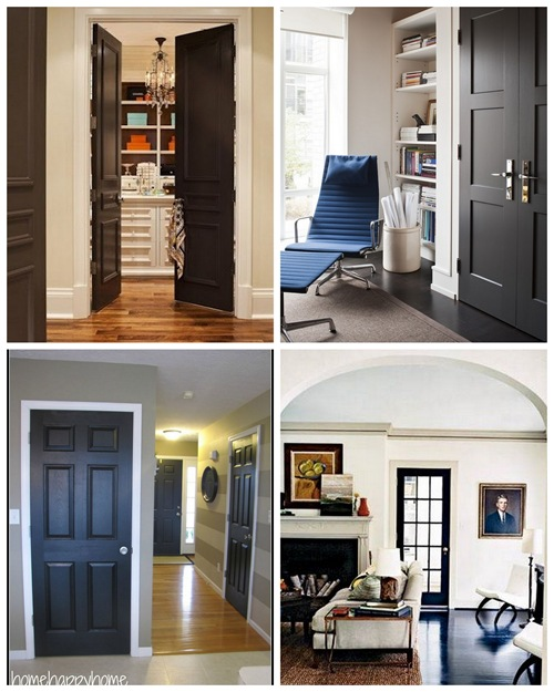 Examples of interior doors painted dark! {Sawdust and Embryos}