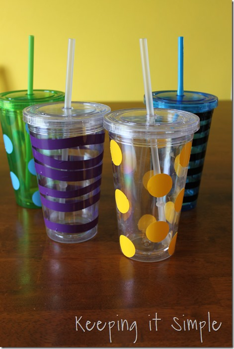 vinyl decorated tumblers  (4)