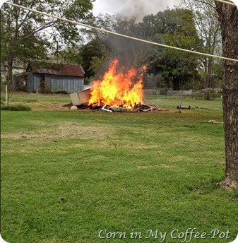 Burning Yard clean up