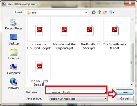 การใช้งานฟรีแวร์แปลงรุปภาพเป็นเอกสาร pdf