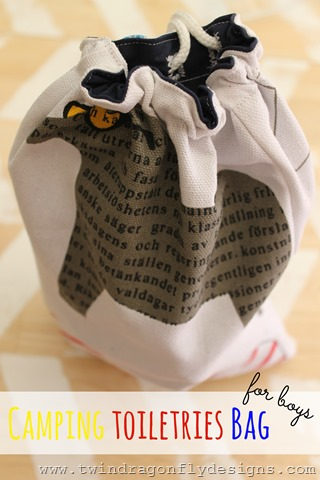 Camping Toiletries Bag Title