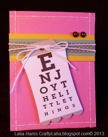 card by Lalia Harris: Enjoy the little things featuring faux stitching from CTMH Idea Book