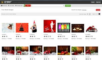 Exemplo de imagens natalinas gratuitas do 123 Royalty Free