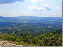 View from an overlook on Skyline Drive