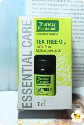 Priscilla review Thursday Plantation tea tree oil 4