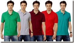Flipkart : Buy Men's TSX polo t-shirts (Pack of 8) at flat 73% off at Rs 1529:buytoearn