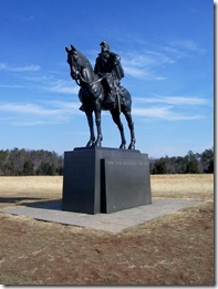 "Statue of ""Stonewall"" Jackson on the ridge of Henry Hill"