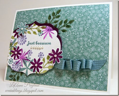 LeAnne Pugliese WeeInklings Paper Players 204 Flower Patch