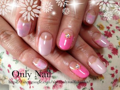 ピンク+ピンク+タイダイ柄