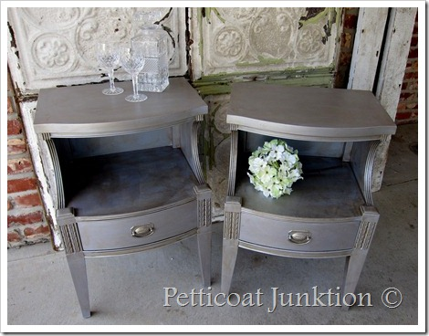 how to antique furniture - metallic paint with antique finish