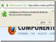 Firefox: come impedire l'installazione di addons e plugin