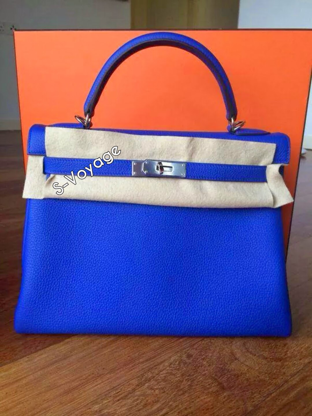 Hermes Kelly Blue Electric