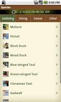 Screenshot of DU Waterfowler's Journal