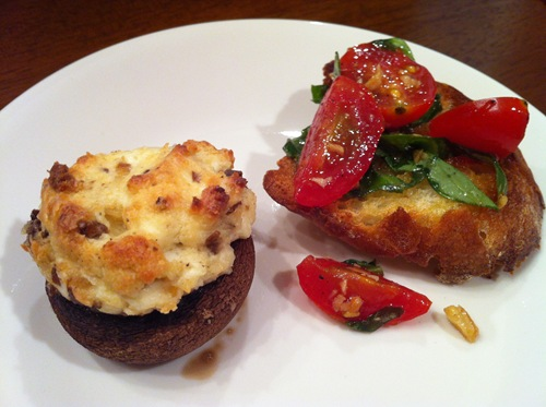 Stuffed Mushrooms Bruschetta Cooking with Garlic Jessica Robinson Life the Epic Journey