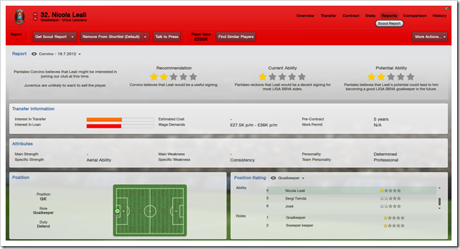 Nicola Leali_ Reports Scout Report