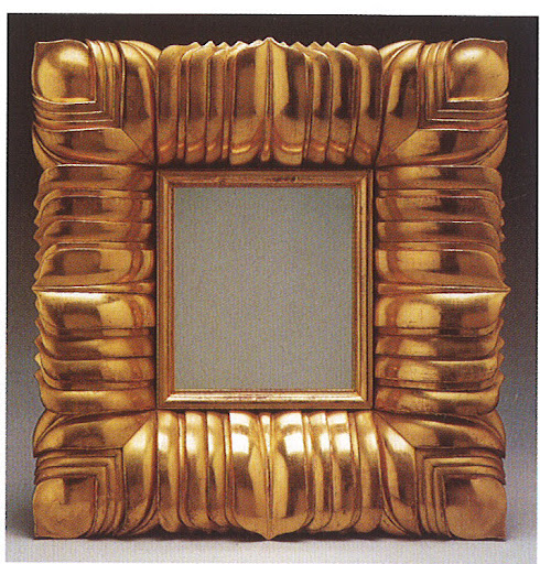 Mirror framed by gilded rosewood.  I'm mesmerized by the layering and detail of the frame.  Martha and I both covet this piece.