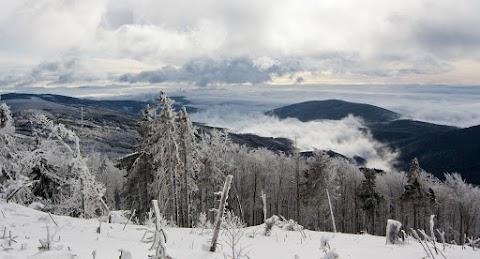 Pohľad na Harklov, Volovské vrchy.