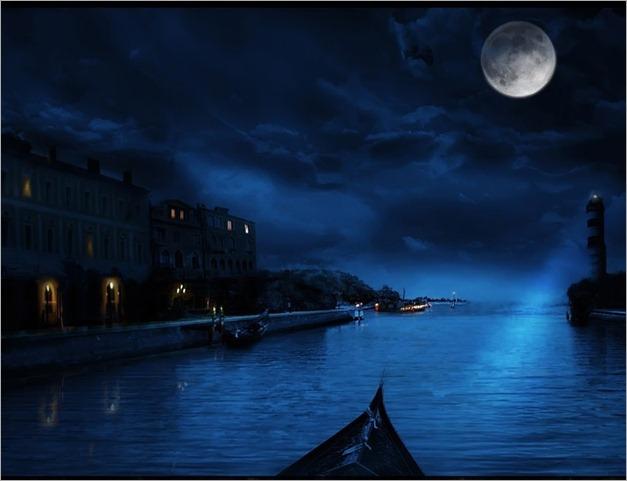 imagenes de luna  llena  en  venecia x