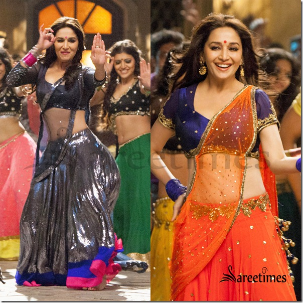 Madhuri_Dixit_Lehenga_Saree