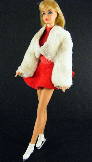 Barbie #942 Ice Breaker, Fur Jacket Skirt Body Blouse Pantyhose Ice Skates 1962