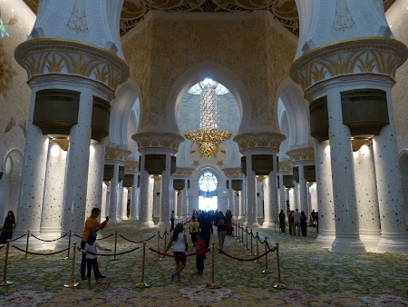 Obiective turistice Abu Dhabi: interior moschee