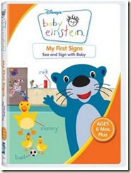 baby einstein frist signs