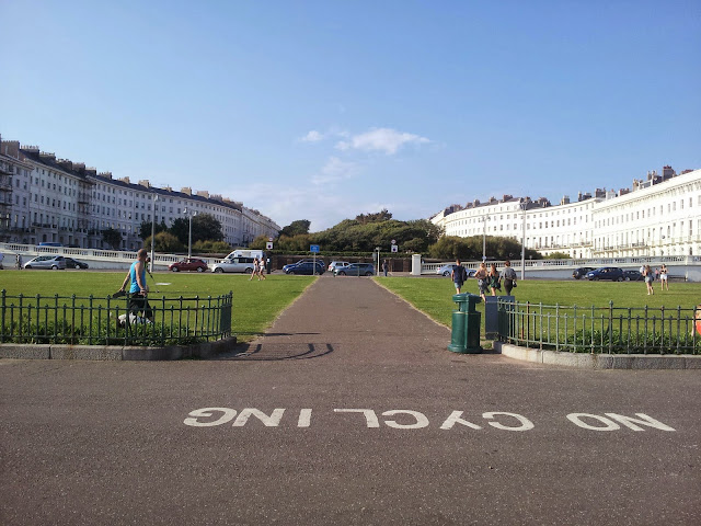 Palmeira Square Hove from the promenade Brighton