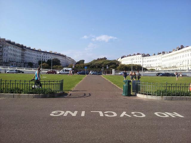 Palmeira Square Hove from the promenade Brighton
