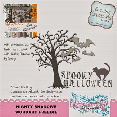 Romajo - Nighty Shadows - Wordart Freebie Preview