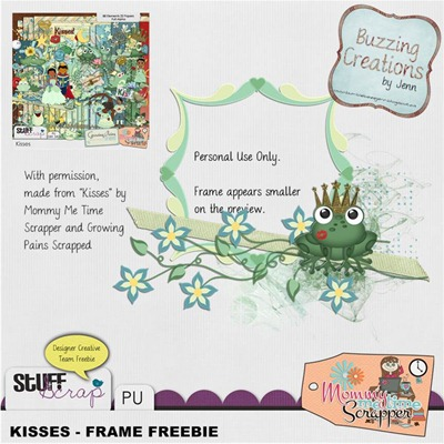 Mommy Me Time Scrapper - Kisses - Frame Freebie Preview