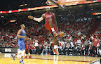 lebron james nba 121225 mia vs okc 22 Miami Heat Win NBA Finals Rematch vs OKC on Christmas Day