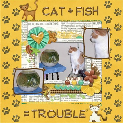 Katie Creates - Cats N Dogs - Cat Plus Fish