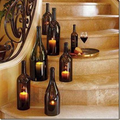 garrafas com velas