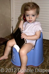 Elaine on Potty Chair
