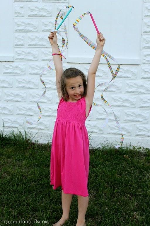 ribbon wand with Offray #ribbon