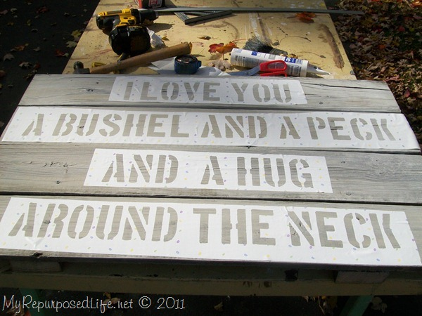 love you bushel and a peck