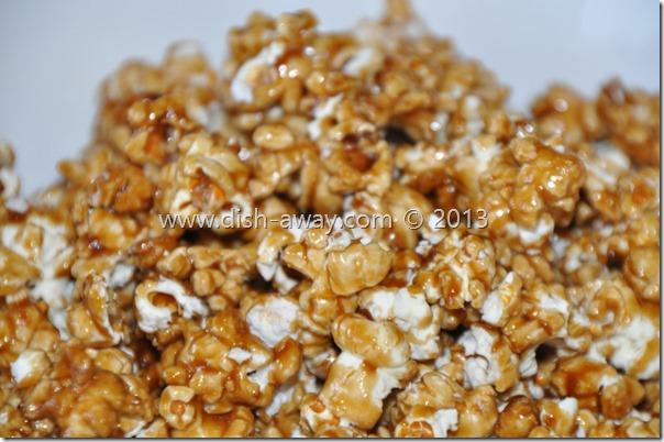 Caramel Popcorn Recipe by www.dish-away.com