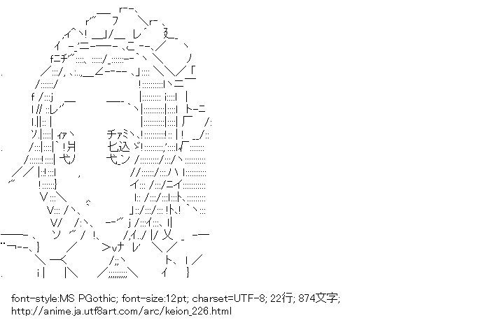 けいおん!,田井中律,メイド