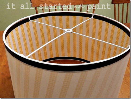 washi tape on drum shade 8