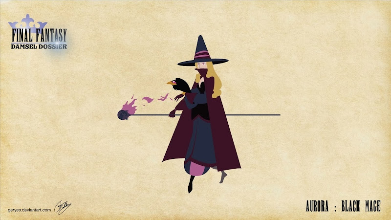 Final Fantasy Damsel Dossier - Aurora Black Mage - by Geryes on deviantArt