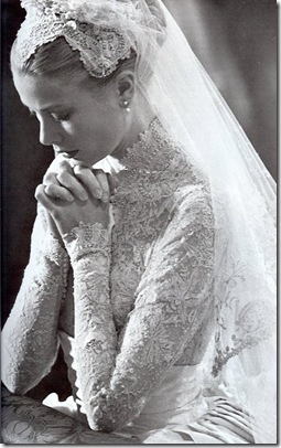 Princess Grace Kelly wedding dress looks like kate middleton
