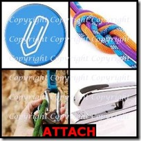 ATTACH- 4 Pics 1 Word Answers 3 Letters