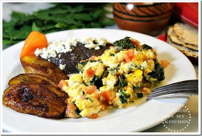 Scrambled Eggs with Chaya1