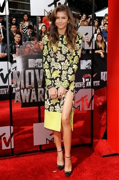 Zendaya Coleman 2014 MTV Movie Awards Arrivals