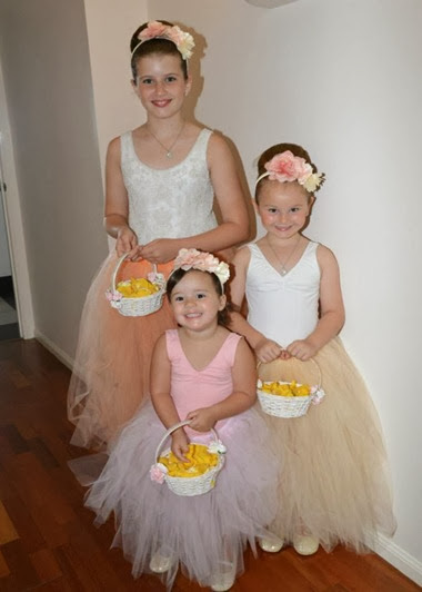 flower girl tutus peach french vanilla soft pink