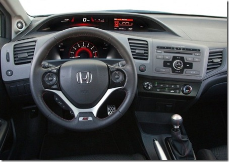 2012 Honda Civic Si Sedan interior